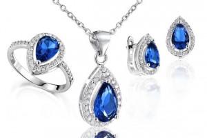 silver diamond sapphire jewelry